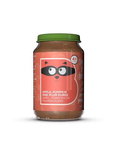 Organic Apple, Pumpkin and Plum Puree