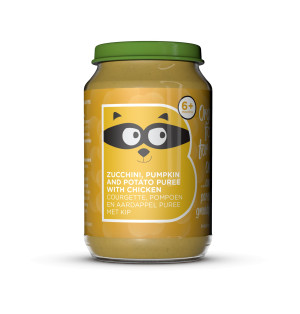Organic Zucchini, Pumpkin and Potato Puree with Chicken